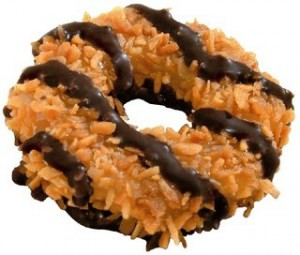 a Samoa Girl Scout cookie